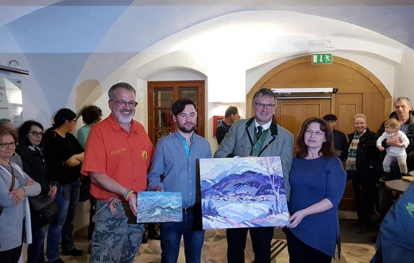 Художник-еколог з Рахівщини Руслан Глеба взяв участь в Міжнародній виставці в Австрії